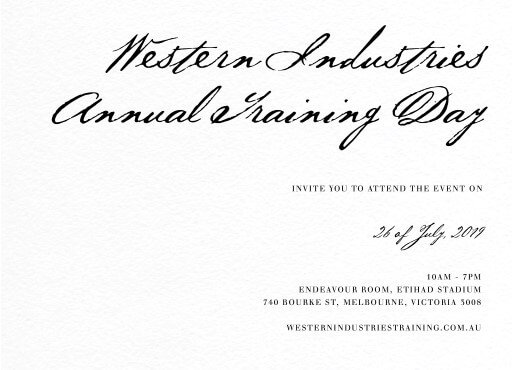 Simple Script - Corporate Invitations