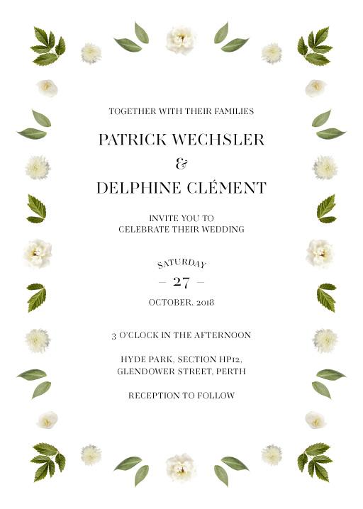 Delphine Rouge - Wedding Invitations