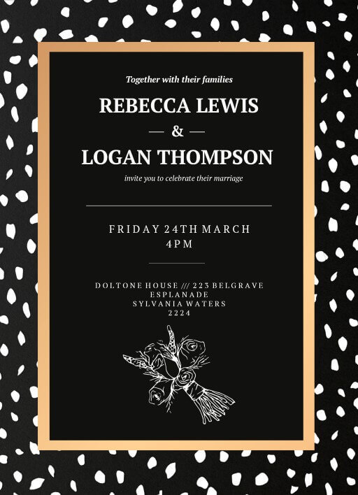 Monochrome Luxe - Wedding Invitations