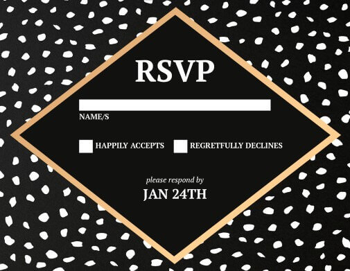 Monochrome Luxe - RSVP Cards