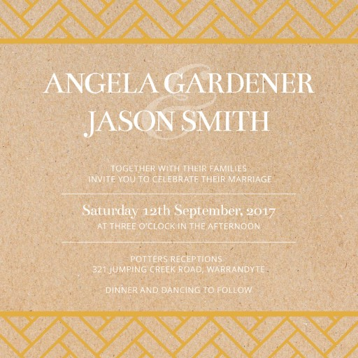 Deco Luxury - Wedding Invitations