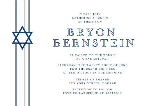 Stripes - Bar & Bat Mitzvah Invitations