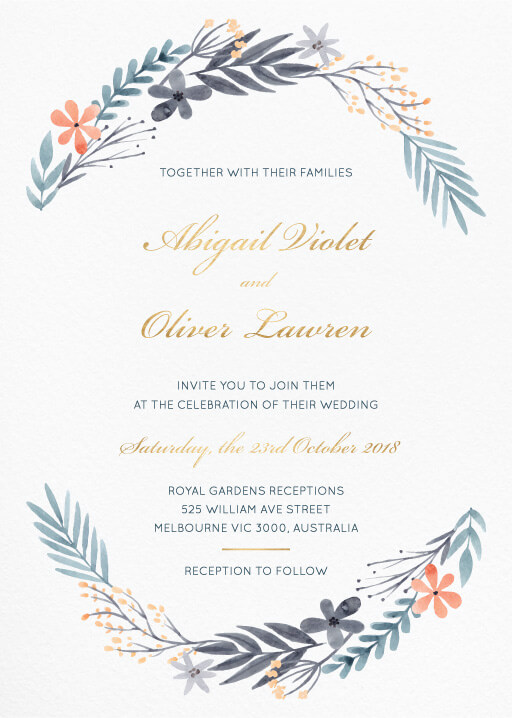 Floral wedding invitations wedding invites cards great dixter wedding invitations stopboris