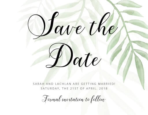 Forest Walk - Save The Date