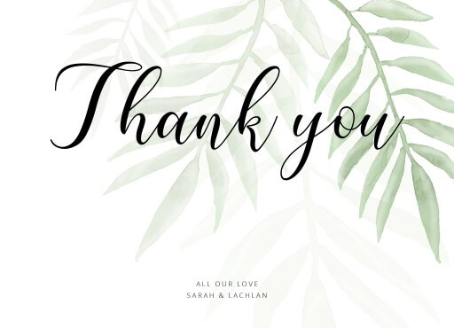 wedding thank you cards designs by creatives printed by paperlust