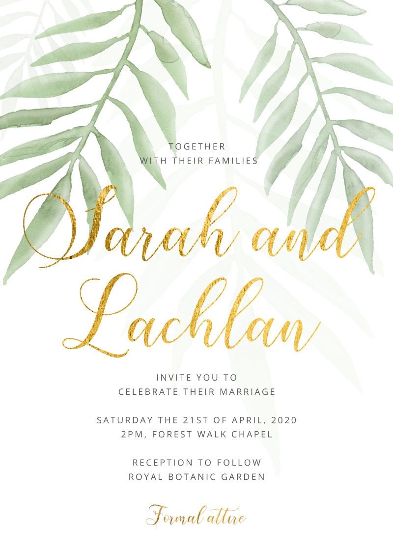 Forest Walk | Real Foil | Wedding Invitations