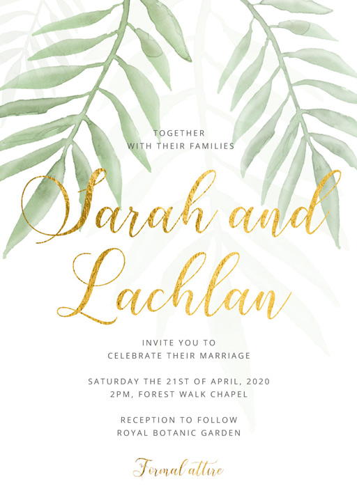 Forest Walk - Wedding Invitations