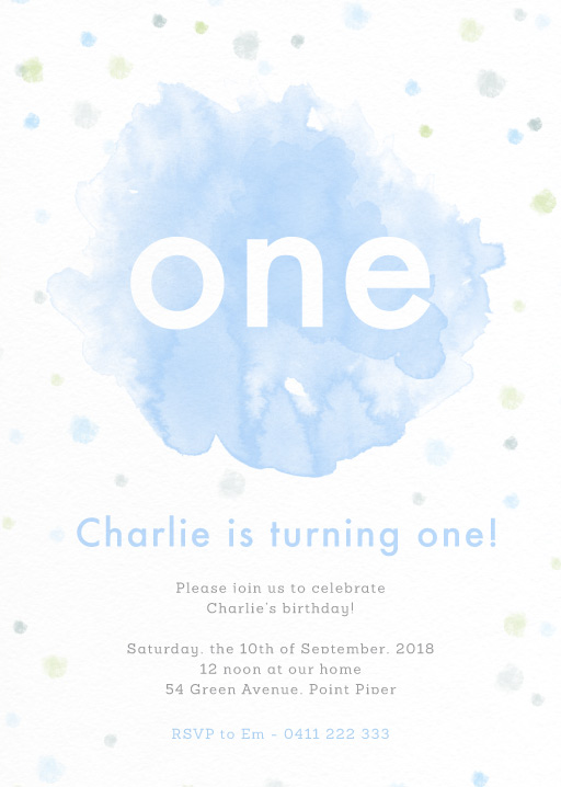 Watercolour Pop - Birthday Invitations