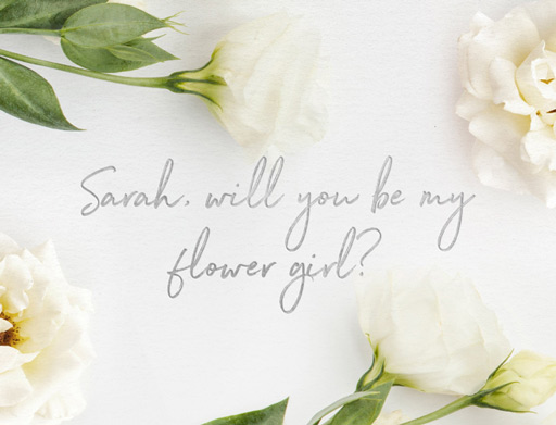 Flower girl - Bridesmaid Cards