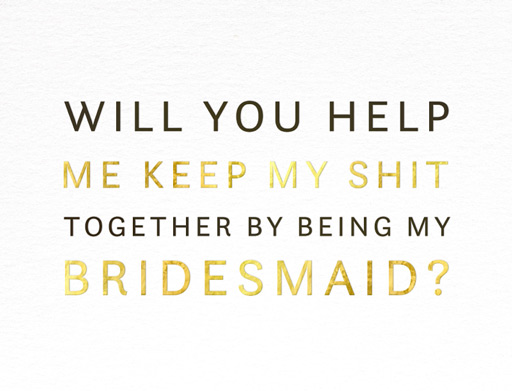 bridesmaid cards all stationery