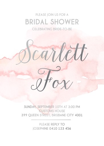 Pink Clouds - Bridal Shower Invitations