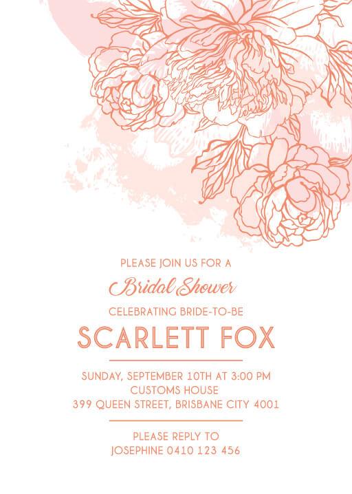 Shining Bloom - Bridal Shower Invitations