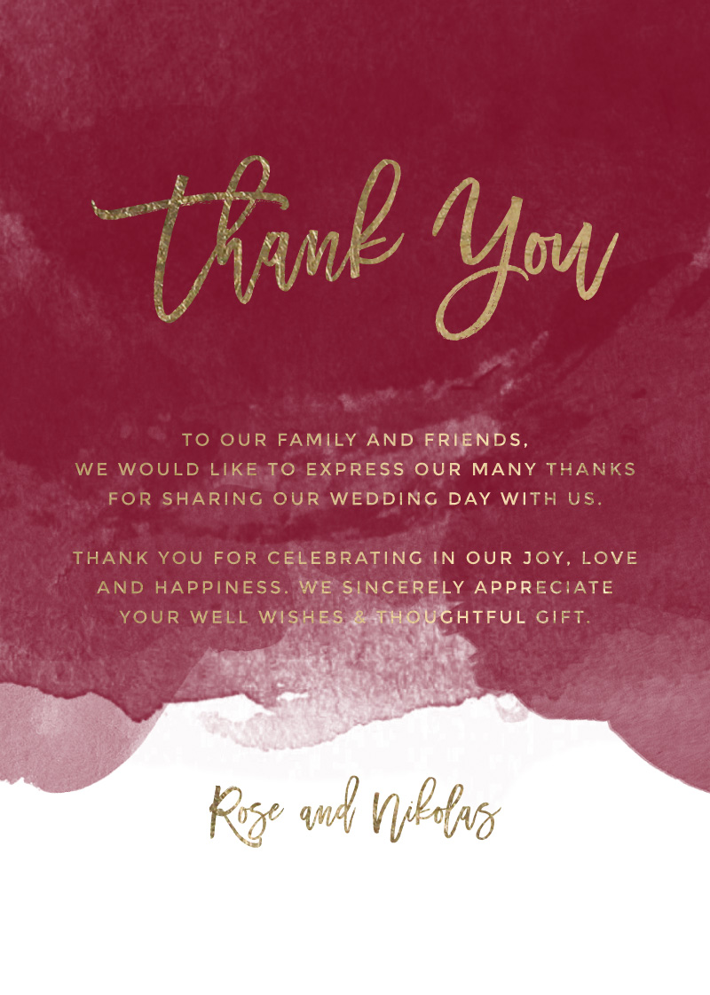 be our guest real foil thank you cards