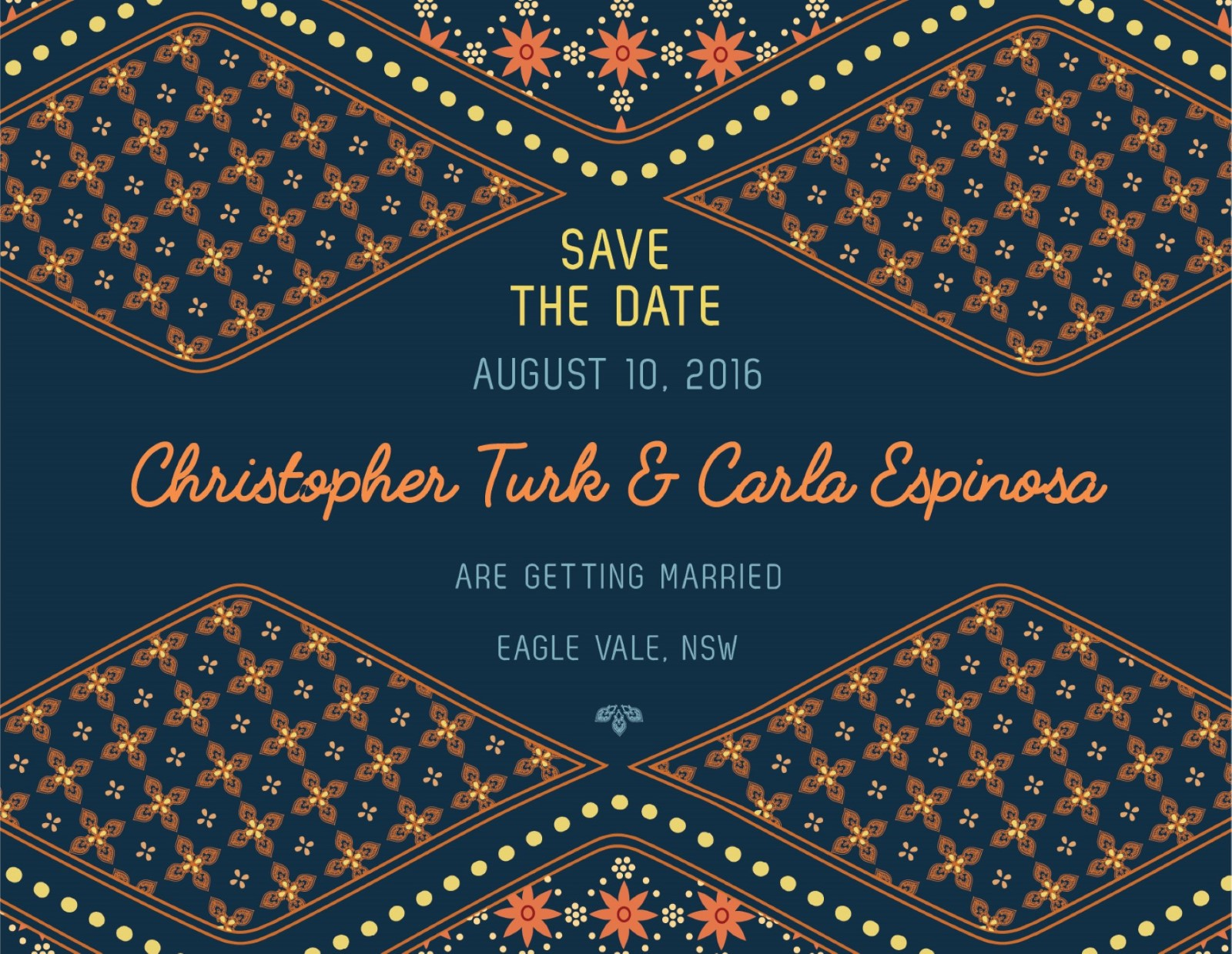 moroccan nights digital printing save the date