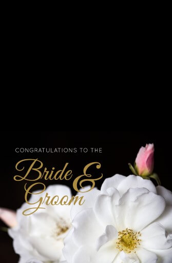 White Roses - wedding cards