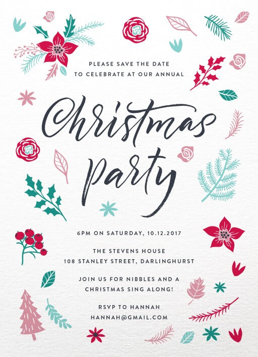 Christmas party invitations independent designs merry little christmas invitation christmas party invitations stopboris Gallery