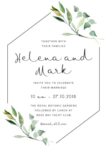 Garden Window Digital Printing Wedding Invitations