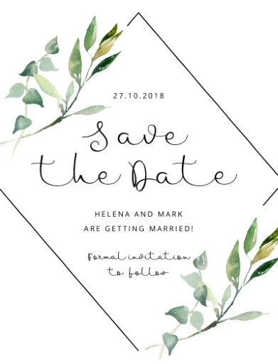 garden window digital printing save the date
