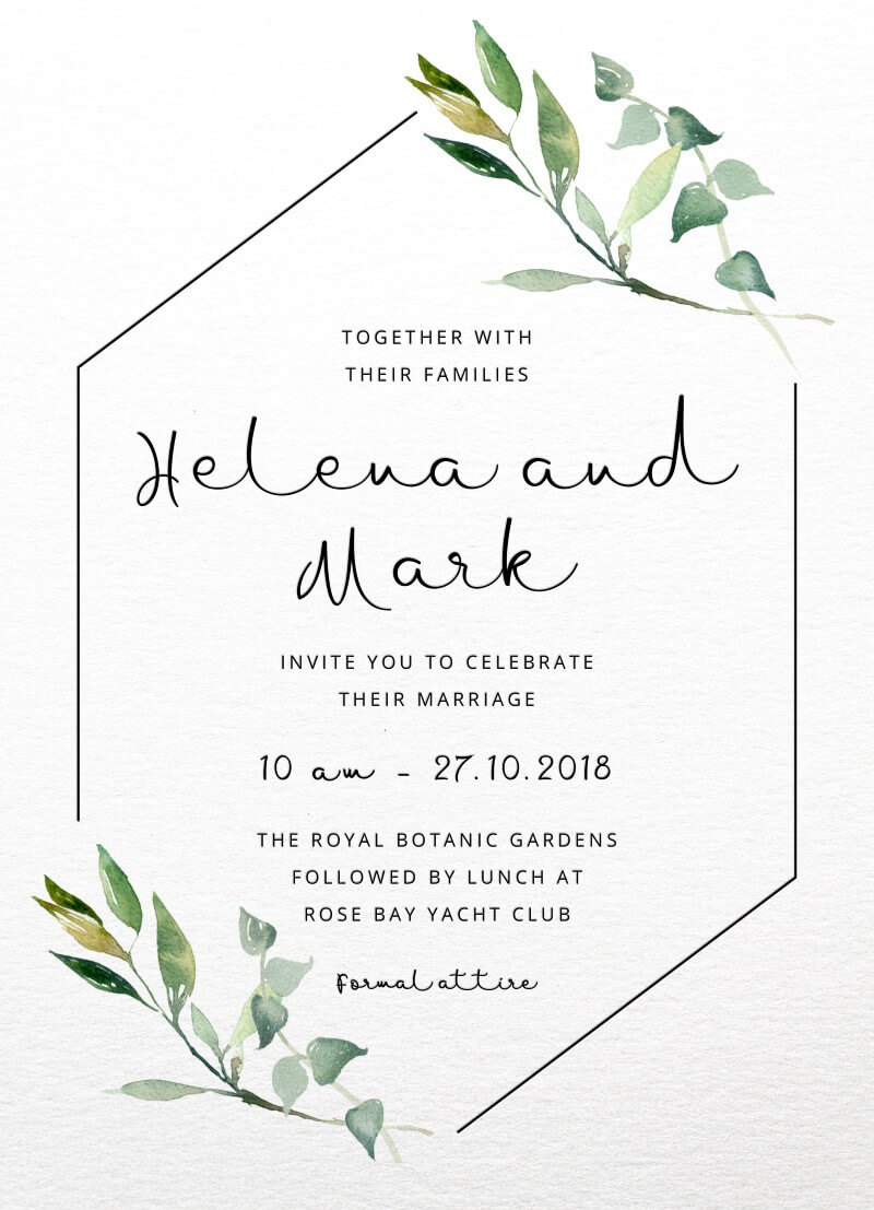 Garden window real foil wedding invitations front monicamarmolfo Choice Image
