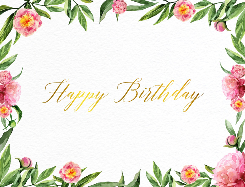 Blooming Peonies - birthday cards