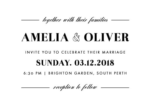 Violet - wedding invitations