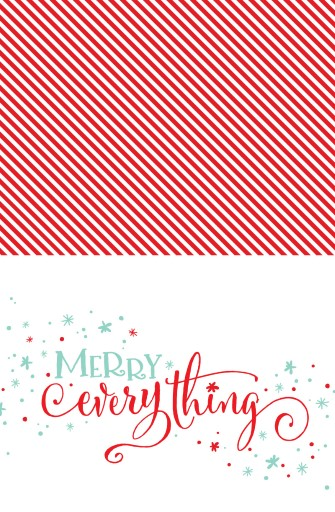 Merry Everything - christmas cards