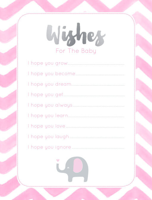 Elephant Baby Games - baby shower games