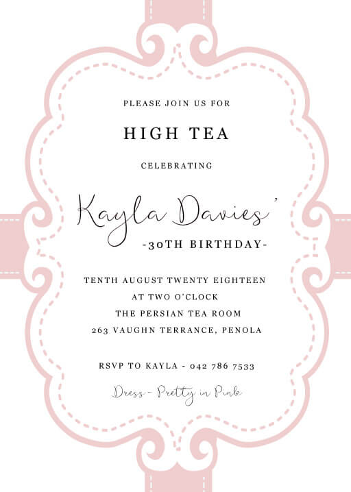 Vintage - Birthday Invitations
