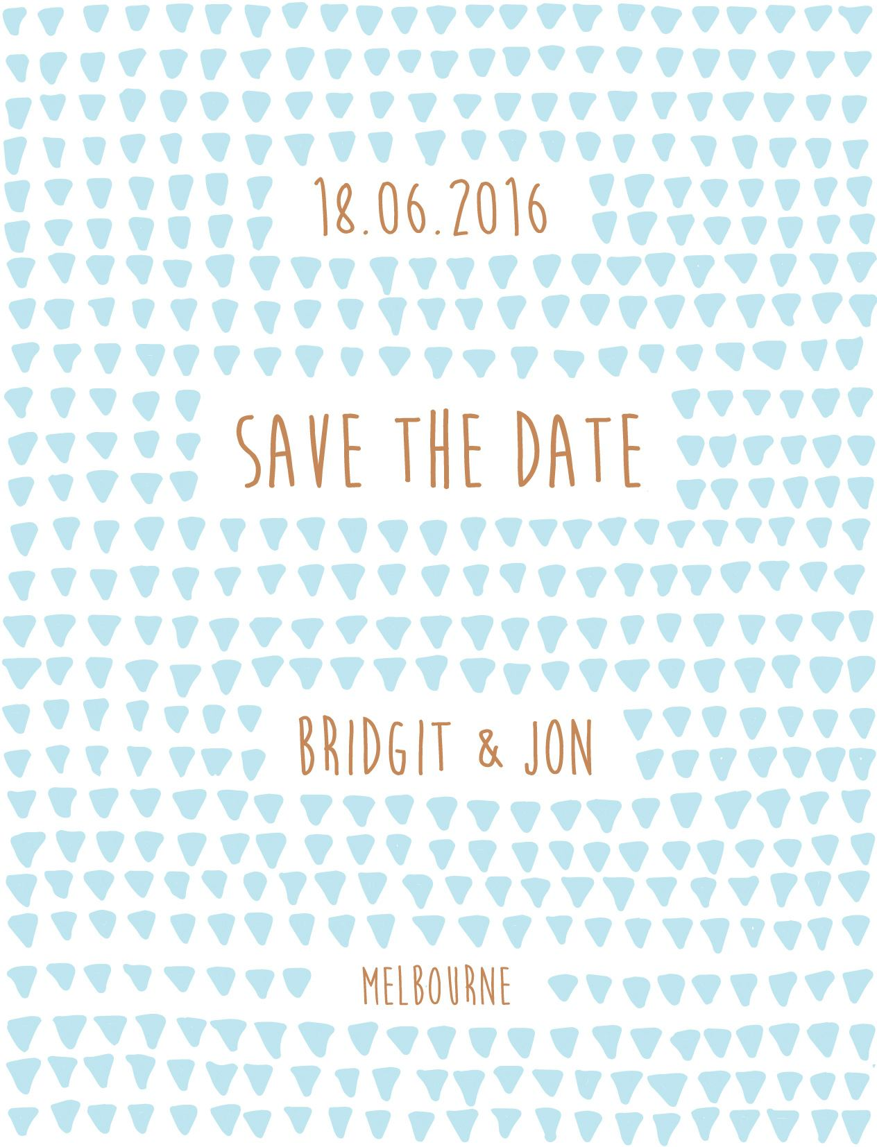 Droplets - Save The Date