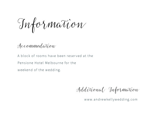 Rustic - Information Cards