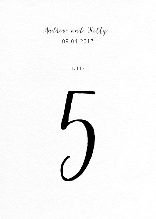 Rustic - table numbers