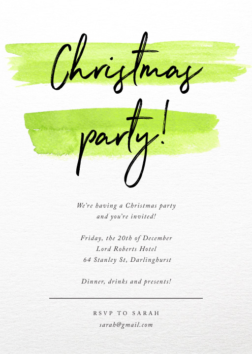 Christmas Stripe - Christmas Party Invitations
