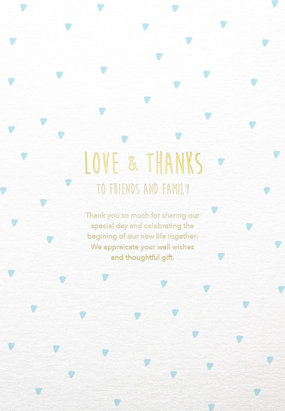 Droplets - Thank You Card