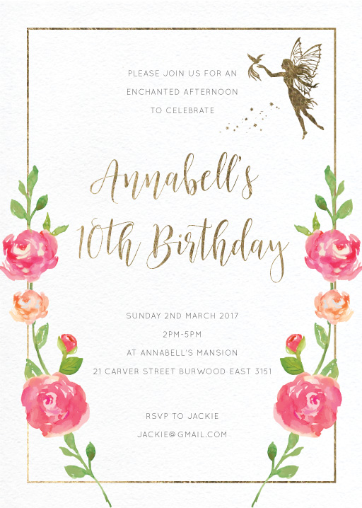 Enchanted - Birthday Invitations