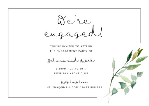 Garden Window - Engagement Invitations