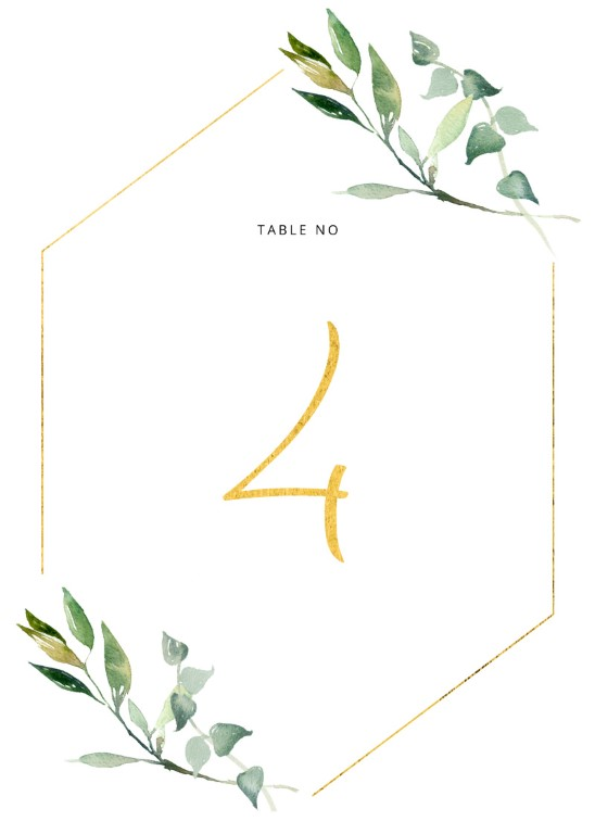 Garden Window - Table Numbers