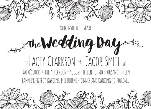 Daisy Chain - engagement invitations