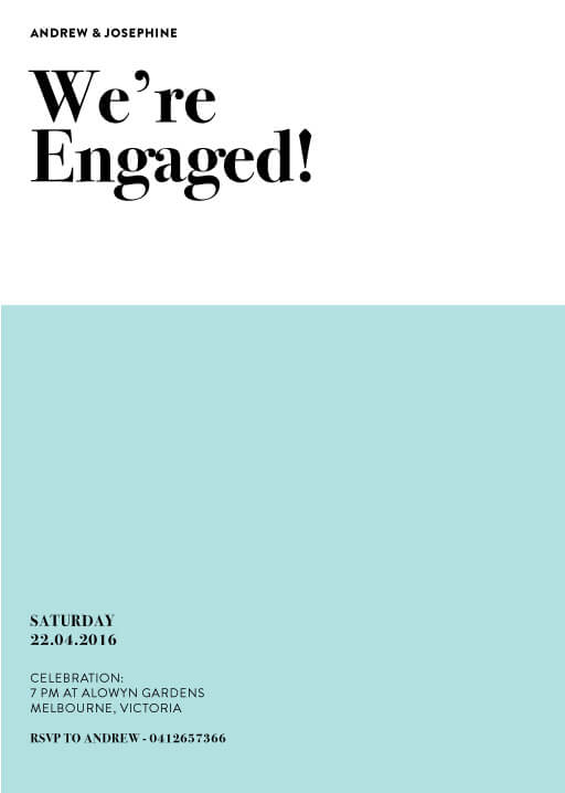 Pastel Pantone - Engagement Invitations
