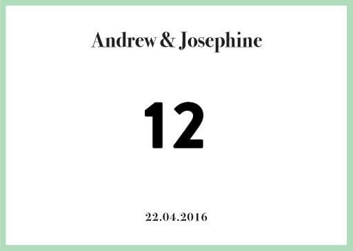 Pastel Pantone - Table Numbers