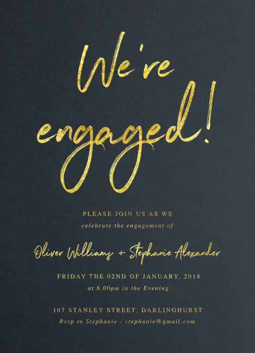 Moira Hughes Couture - engagement invitations