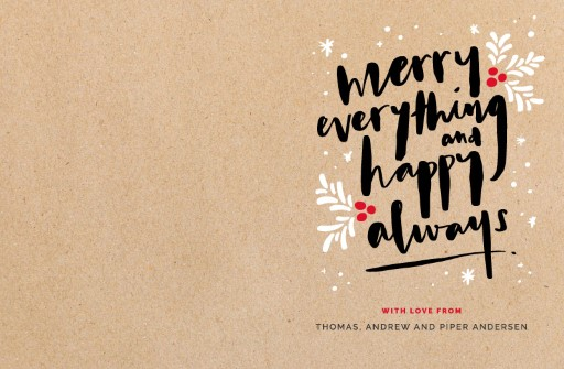 Merry Everything Happy Always - christmas cards