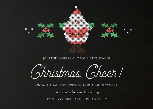 Santa Claus Is Coming To Town - christmas party invitations