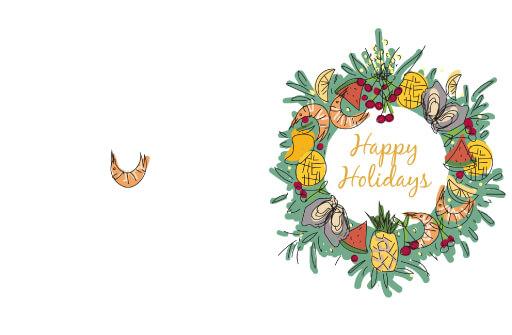 Foodies Christmas - christmas cards