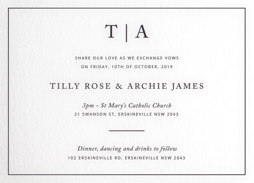 black and white wedding invitations wedding invites