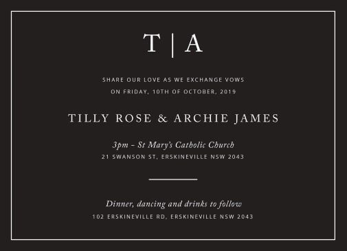Black and White - Wedding Invitations