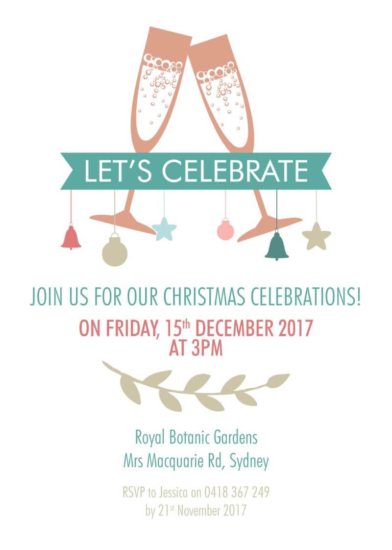 Lets celebrate dp christmas party invitations - Celebrating home designer login ...