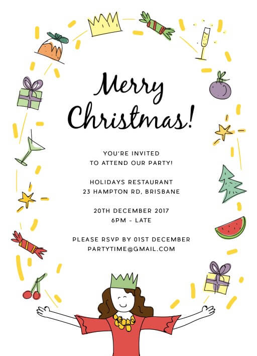 Hostess with the Mostess - Christmas Party Invitations