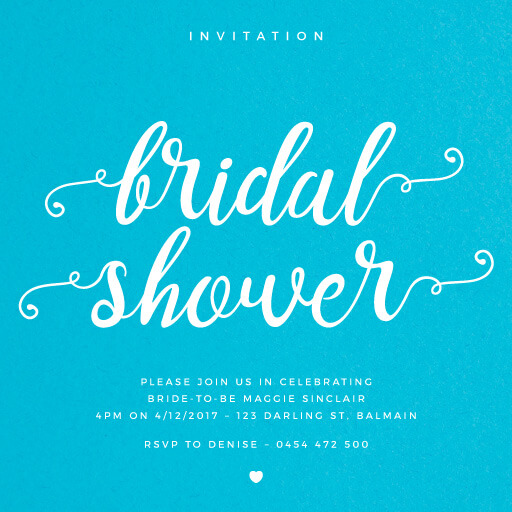 Modern calligraphy - Bridal Shower Invitations