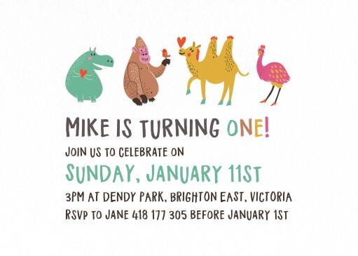 Imagination Jungle - Birthday Invitations
