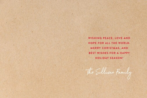 Peace Love and Hope - christmas cards